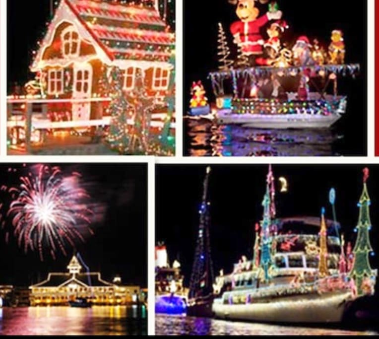 The famous Newport Beach Boat Parade which runs from December 14-18 2016 and starts a couple short blocks away!