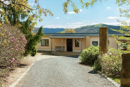 Holiday home right in the heart of Saxon Switzerland with garden pool and amazing view