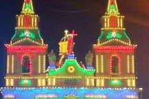 Mellieha church  on festa time