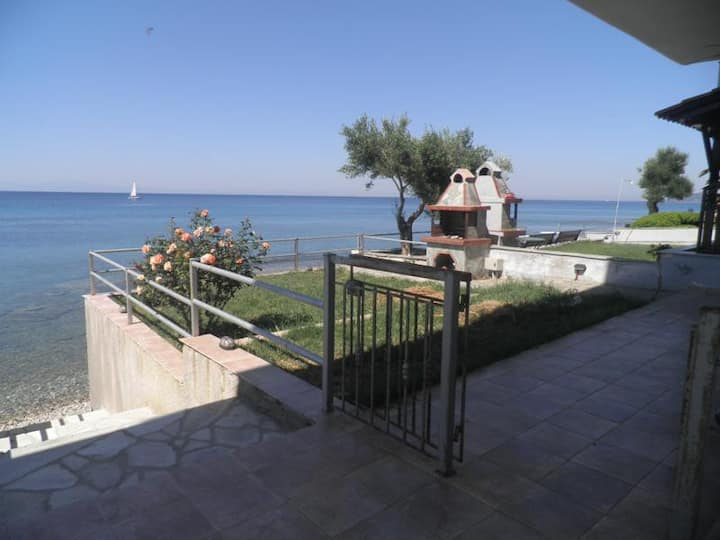 Sea view apartment with private yard