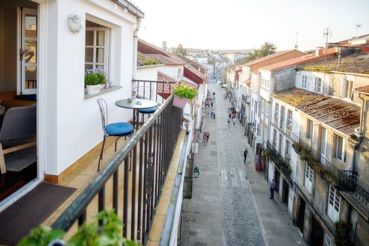 Habitación en ático con terraza - Santiago de Compostela - Wikt i opierunek
