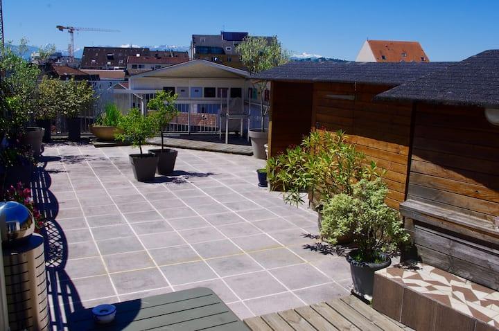 Appartement Terrasse avec vue sur les Pyrénées