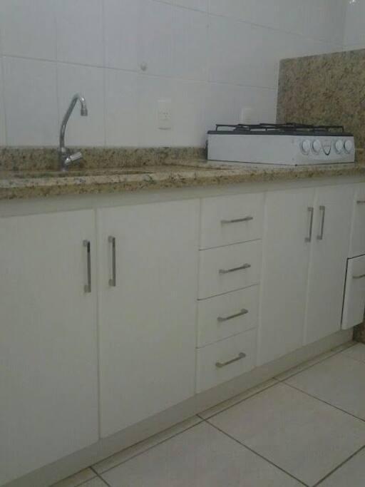 Cozinha gás encanado