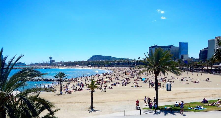 Modern apartment on seaside & pool - Barcelona - Apartament