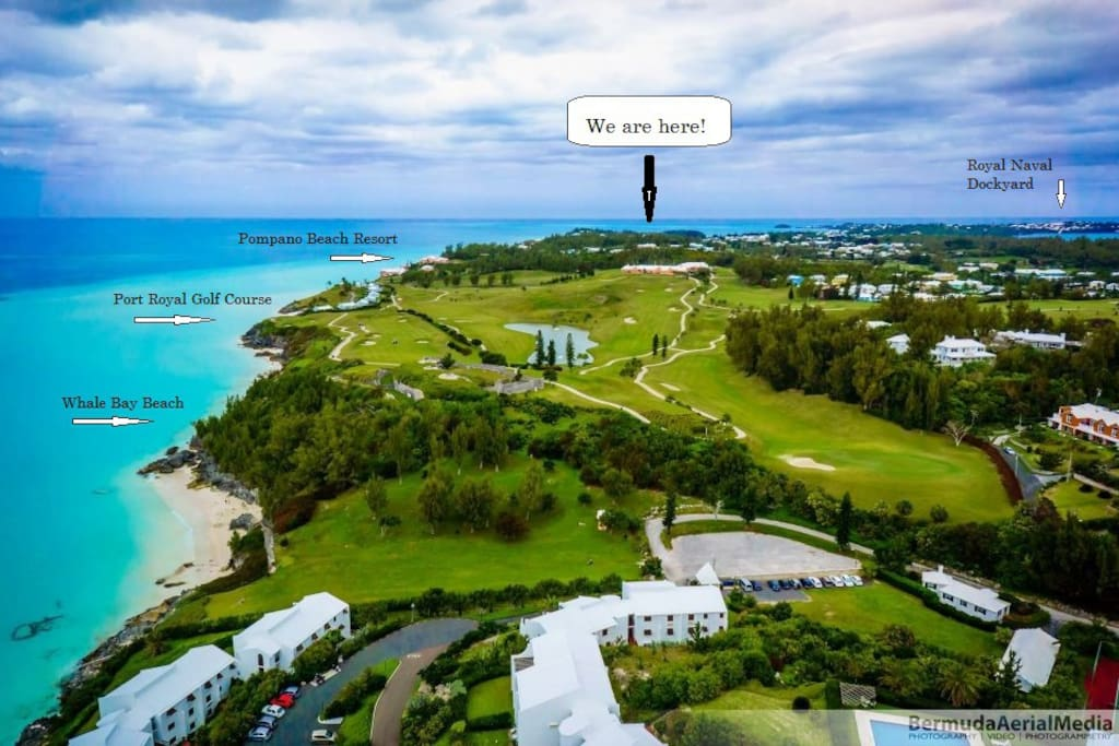 We are located here on Port Royal Golf Course just a 5 minute walk to Pompano Beach Club