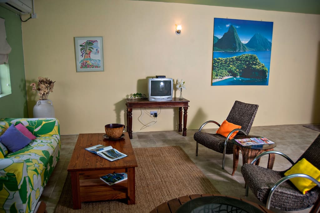 An easy place to work in air conditioned comfort or a  place to call home when you return from the hot nearby beach.