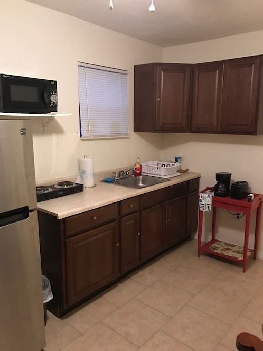 Full kitchen suitable for long stay.