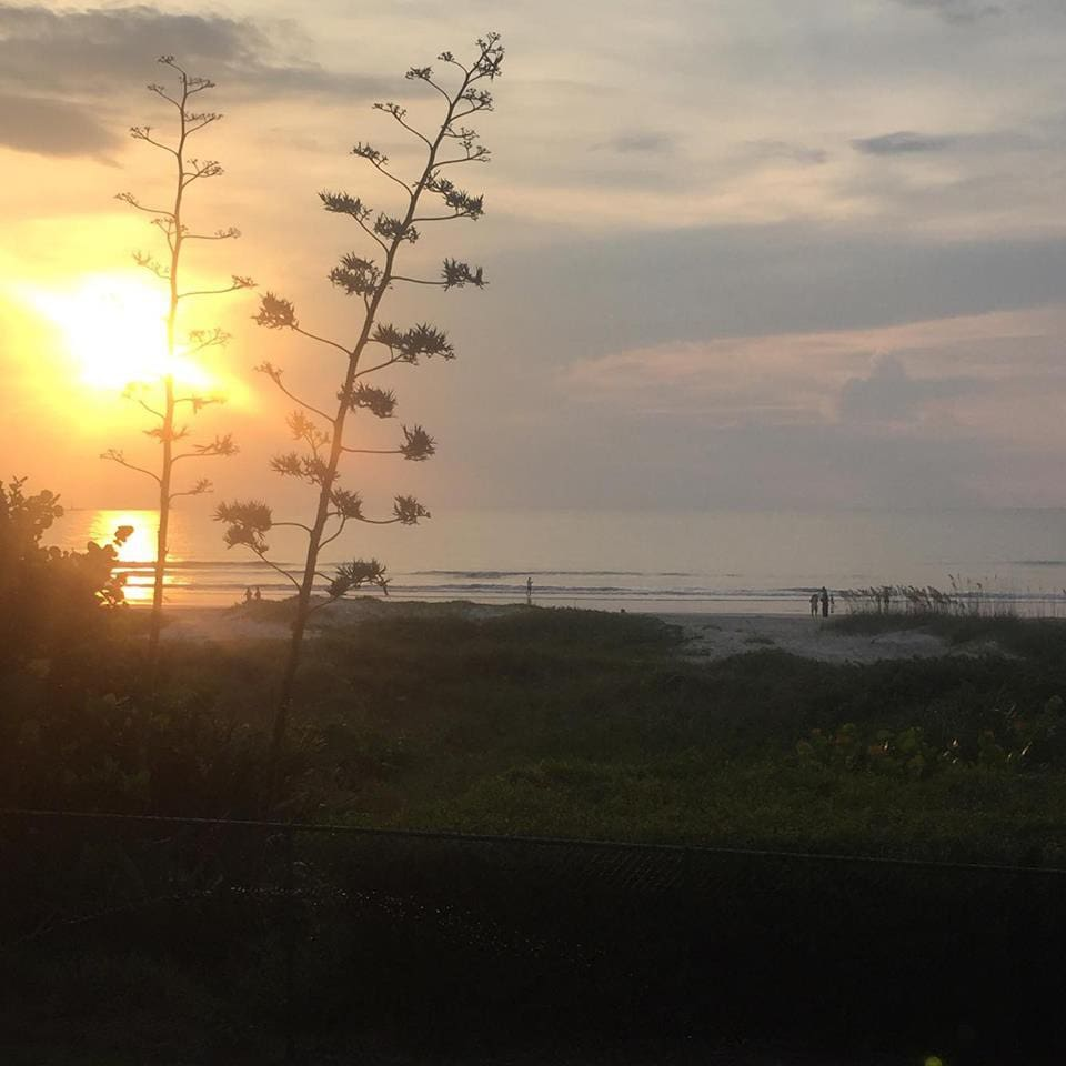 View From Balcony. I took this beautiful sunrise photo from the balcony in 2016. This is such a beautiful view to wake up to!