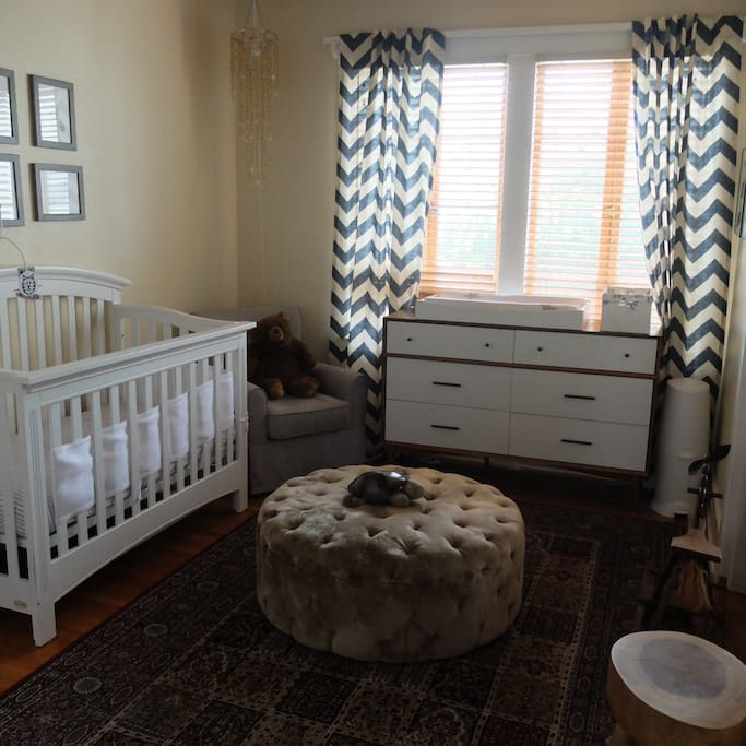 Nursery, Sleeps baby or small toddler in Crib. Includes changing table and toys