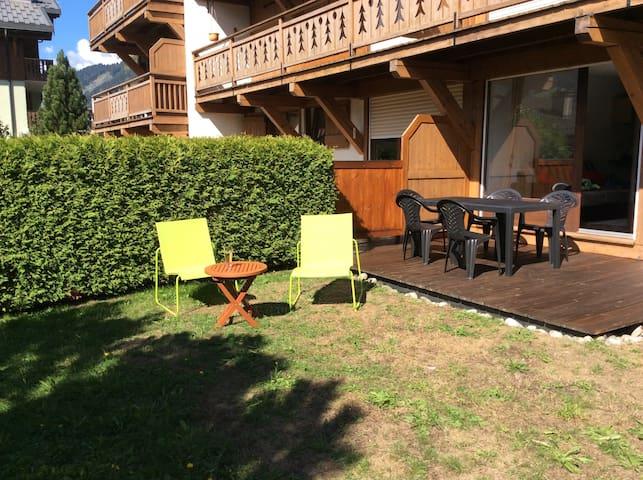 Appt terrasse/jardin au coeur de Praz, 5mn Megeve - Praz-sur-Arly - Departamento
