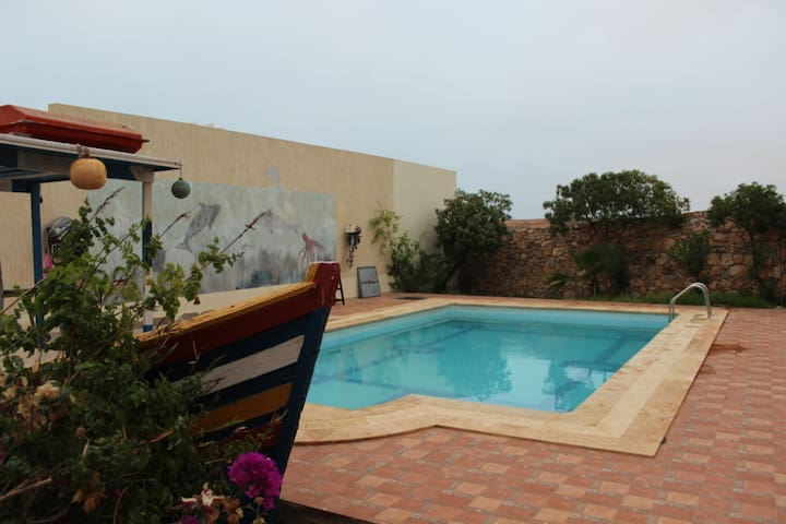 Villa Calme ente Merleft et Aglou au Maroc