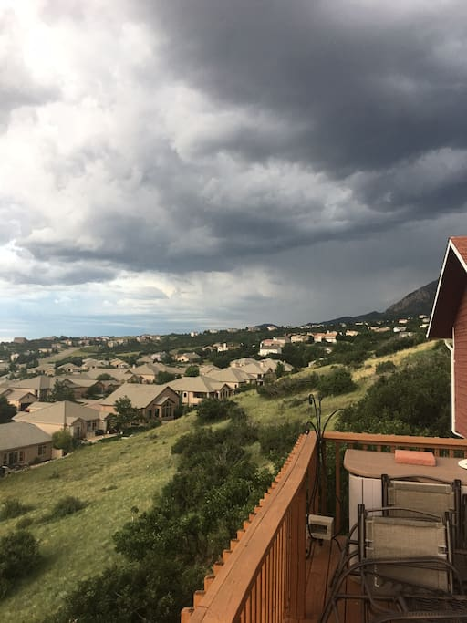 This is the view looking south from our deck.