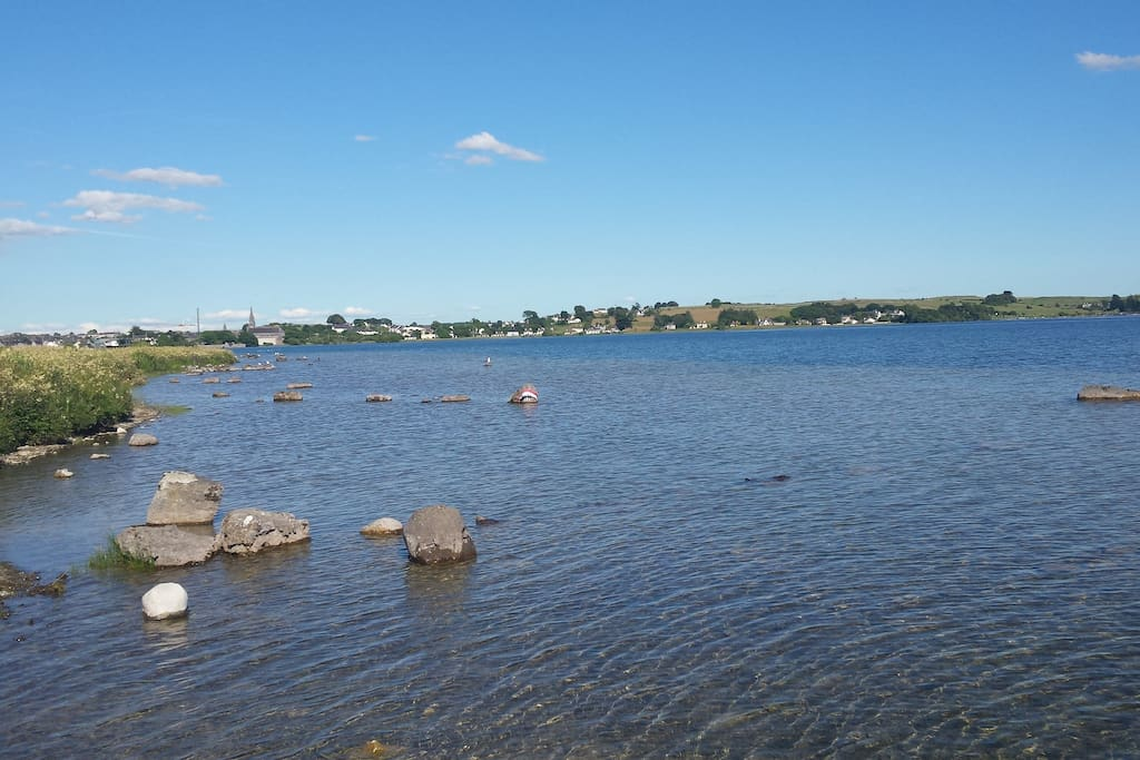 Loughrea lake is within a 10 minute walk