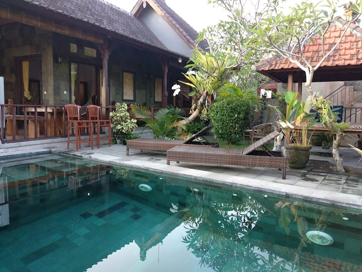 ANDONG HOUSE.private2bedroom.kitchen.pool.wifi.ac