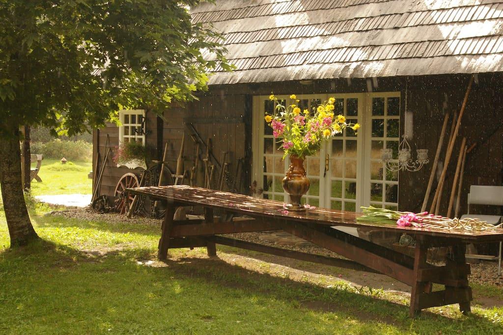 "Inner yard of the Summerhouse ""Branki""."