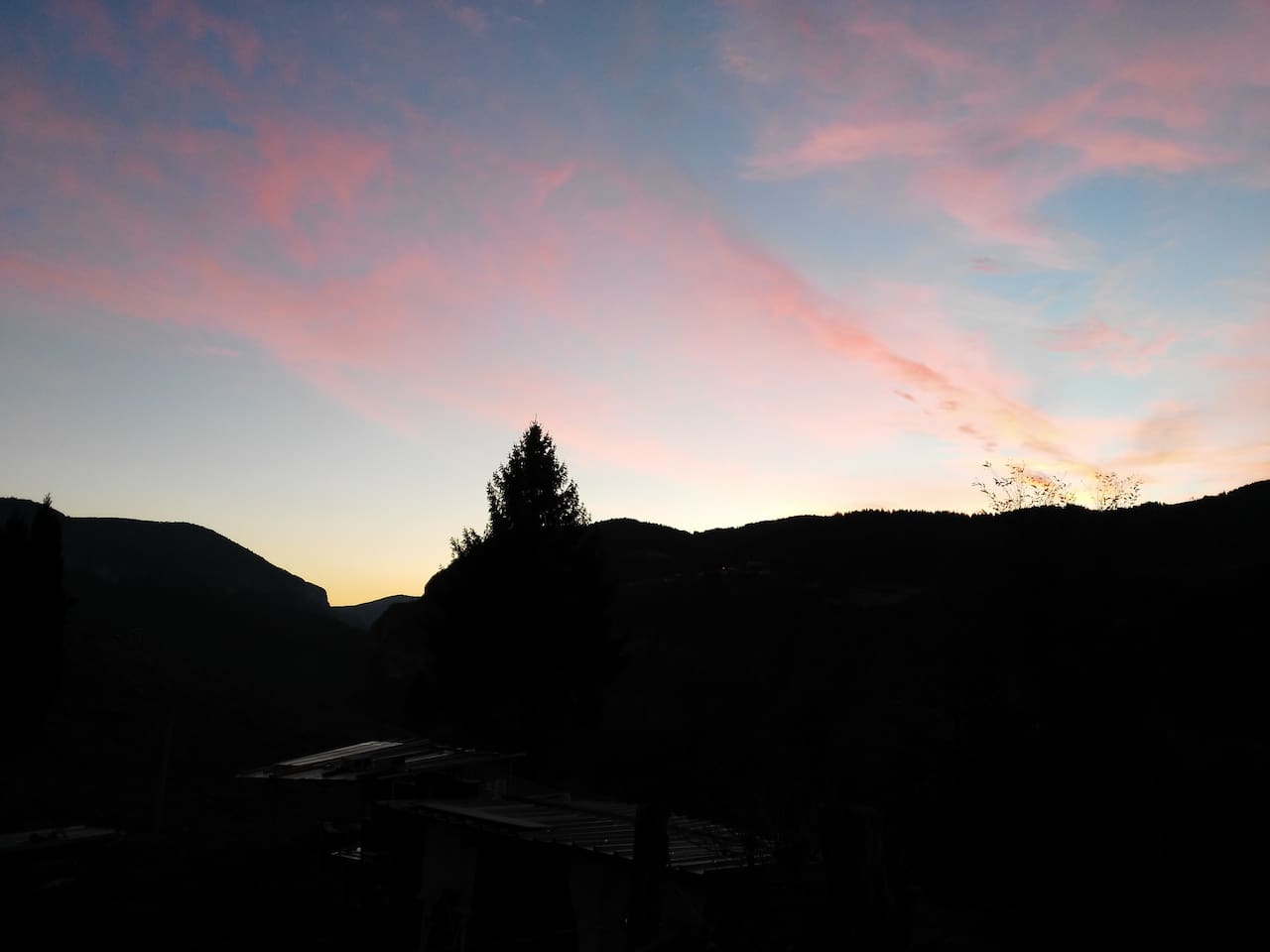 ...un tramonto...