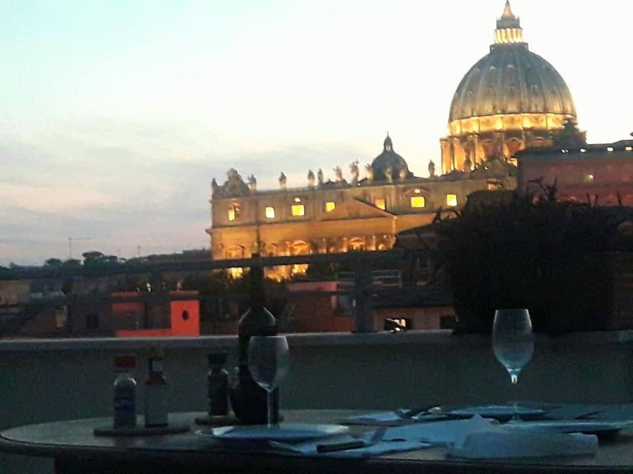 roof for a romantic dinner