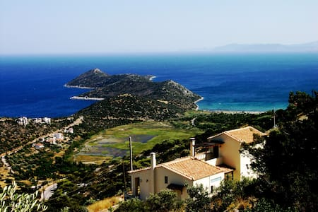 Aeolos Villa Overlooking the Aegean sea - Marathonas - Willa