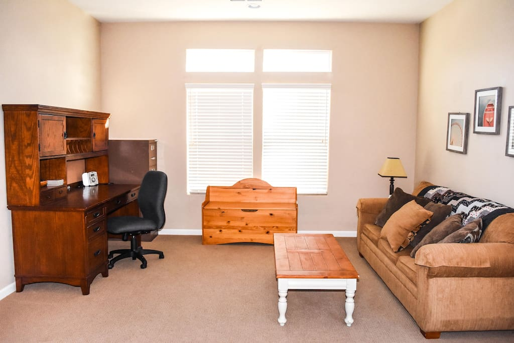 Office space for those who desire office space that converts to living space when no longer needed.