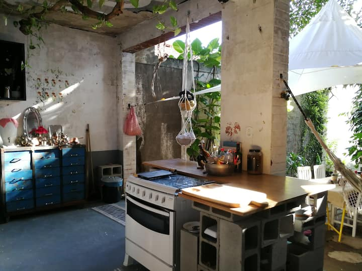this is our incredible outdoor kitchen