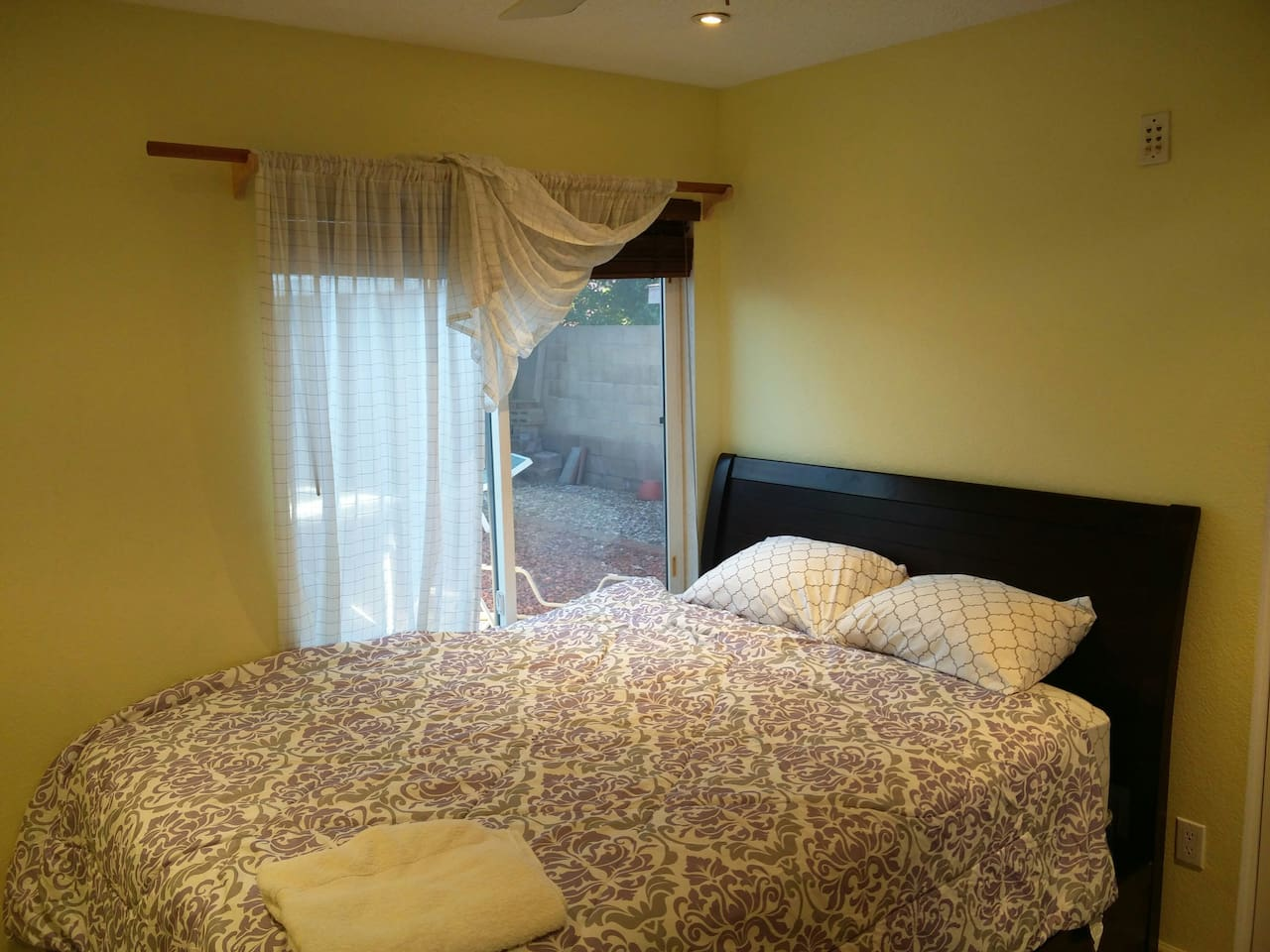 Clean bedroom with pillowtop matress, very comfortable bed
