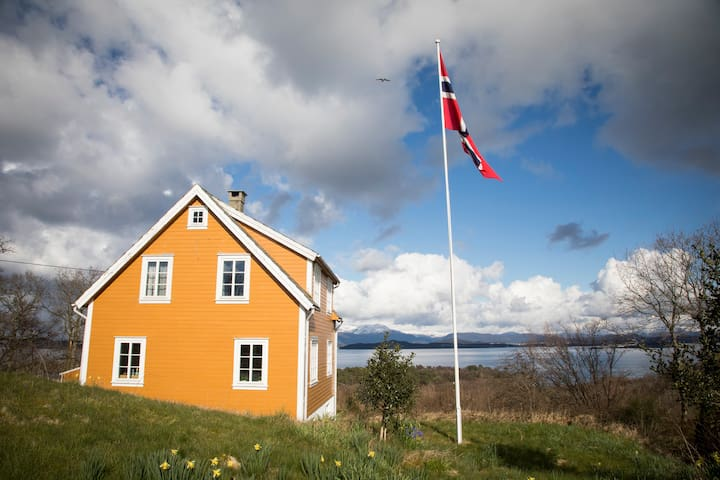 The house has fantastic view towards Langenuen - the strait separating Stord from the mainland.