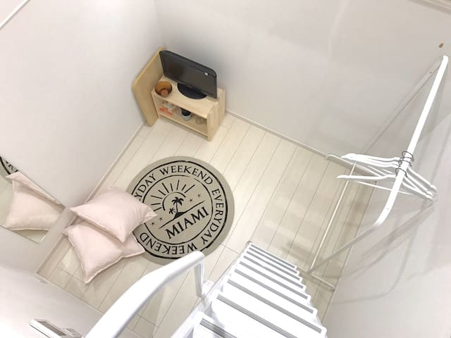 5 mins to SHINJUKU studio w/Loft #1E FREE WIFI
