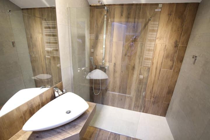 Apartament Loft Pomarańczowo/Niebieski