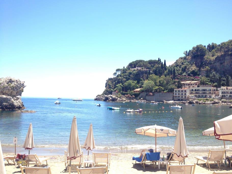Wundervolle Kulisse in der Bucht von von Mazzarò
