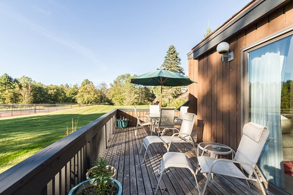 Bask in the sunshine on this large deck.