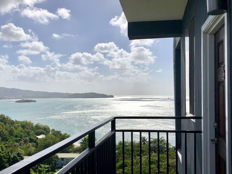 Mesmerizing views from your private apartment entrance.