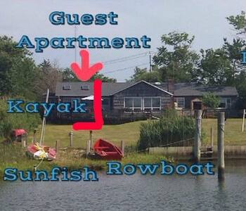 Waterfront Guest Apartment - near Hamptons - East Moriches - Daire