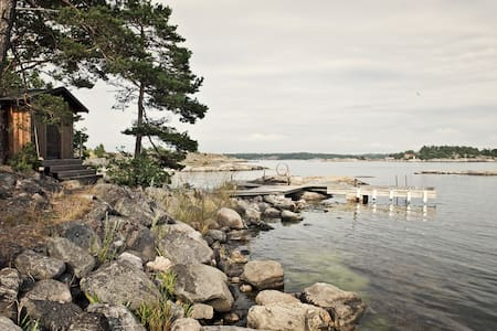 Archipelago house with jetty/Sauna.