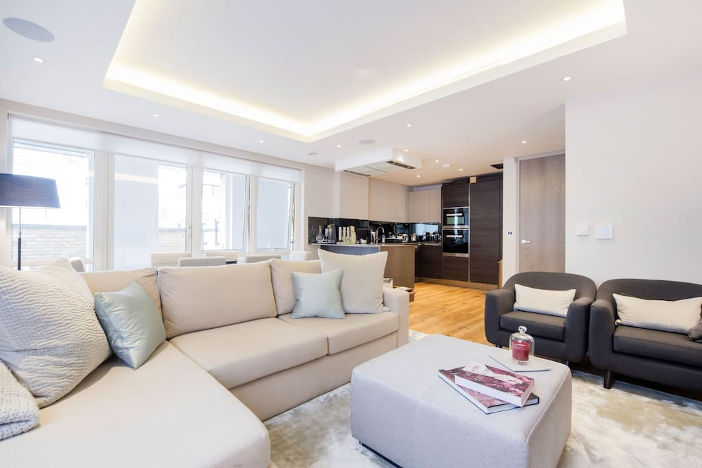 Gorgeous, bright, open plan living room