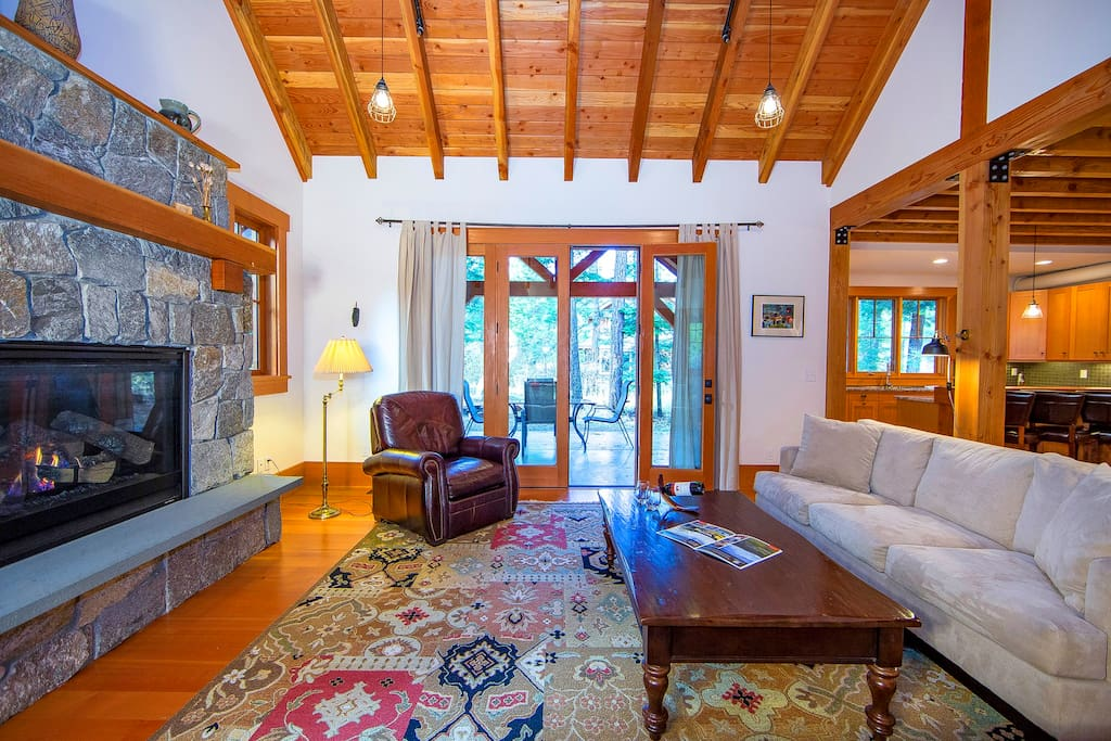 Spacious great room with comfortable seating