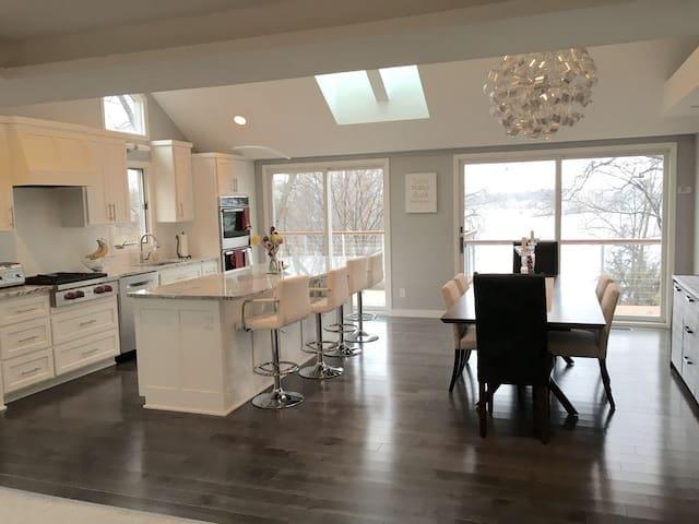 Renovated kitchen (2015) with subzero and wolf appliances.
