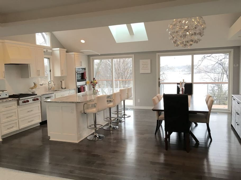 Renovated kitchen (2015) with subzero and wolf appliances.