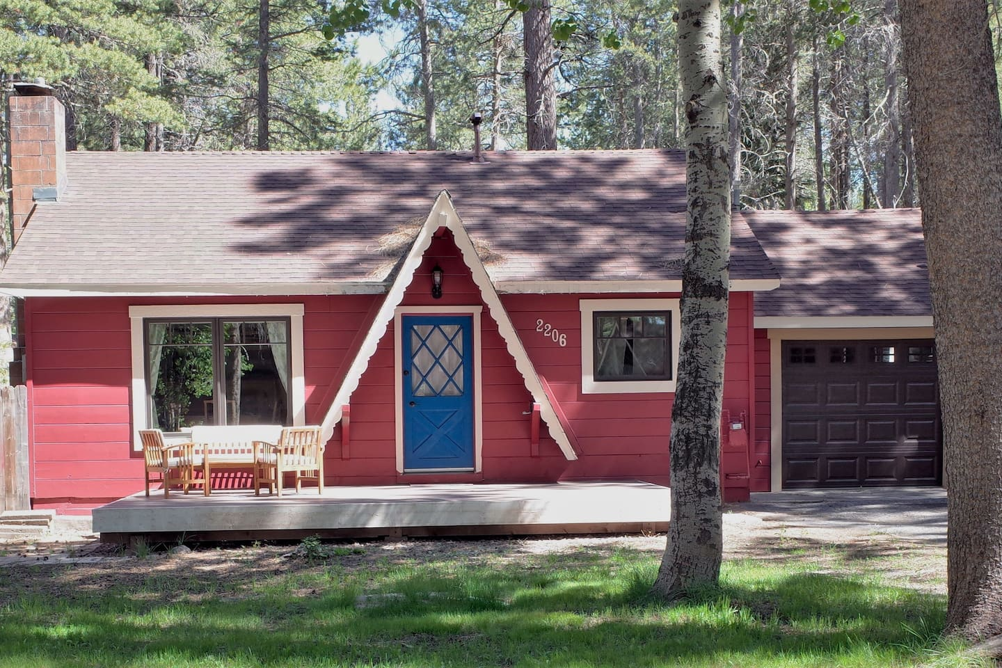 Traditional Tahoe cottage recently renovated with modern features offers a comfortable mountain getaway.