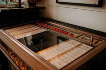Dance along with some iconic music in the jukebox! We even have a bowl of quarters so you can play your favorite tunes!