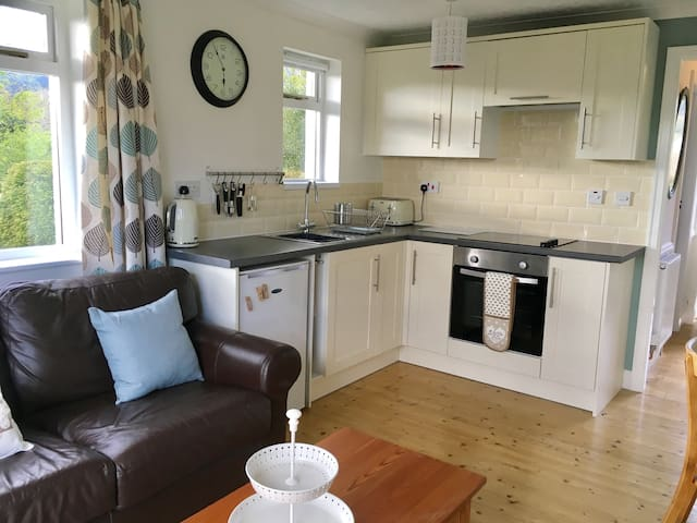 Living, kitchen & dining area