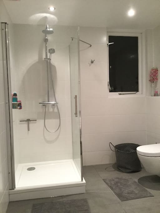 Large modern bathroom - private for guests