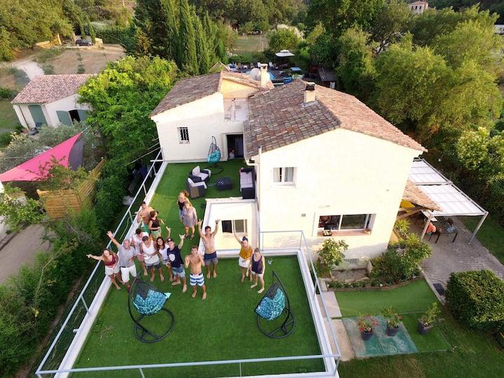 Villa sainte victoire luxe et confort calme,repos