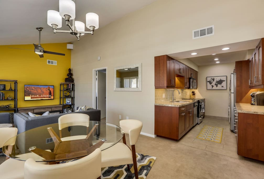 Entire unit has been newly remodeled, open floor plan which opens up to kitchen is ideal for entertaining guest.