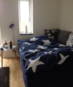 Stort værelse med eget bad/Big room with own bath - Hus