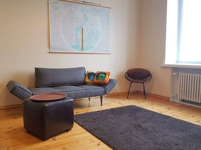 A big room,  full kitchen, bathroom in Kallio