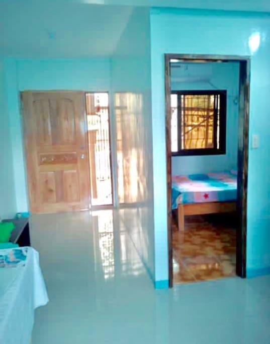 Beside the hallway is the bedroom...