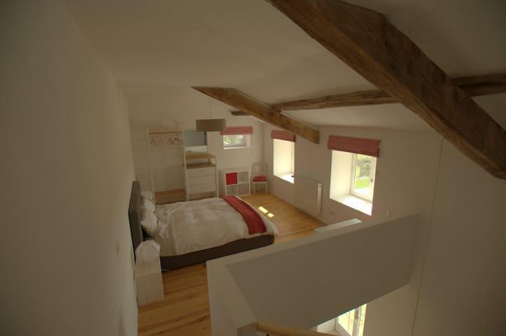 Open plan king-size bedroom
