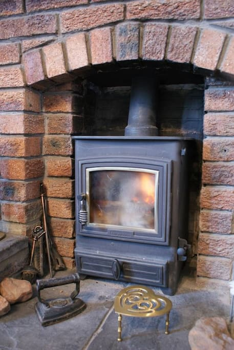 Stove in the living room