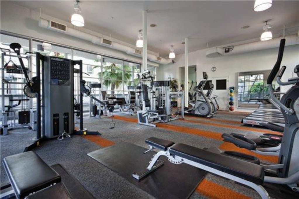 Whether on vacation or a long work/play stay with us you'll always have access to our 24 hour fitness center. Our state-of-the-art cardio equipment allows you to stay ahead of the game and work off that hard earned dessert from one of Hollywood's five star restaurants in the area!