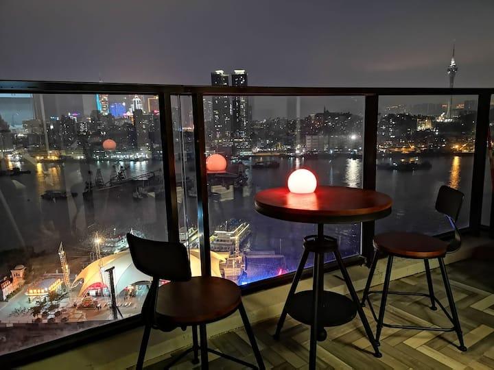 珠澳湾区北欧麋鹿风观景公寓(会展中心 横琴口岸 长隆乐园)